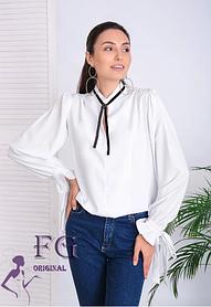 """Блуза женская свободного кроя белого цвета """"Mentola"""""""