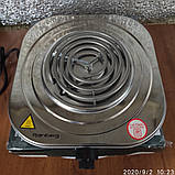 Электроплита Rainberg RB-010 спиральная,настольная на 1 комфорку 2000 Вт нерж, фото 2