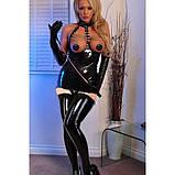 Эротичное платье-мини с вырезом под грудью для БДСМ игр черного цвета, фото 2