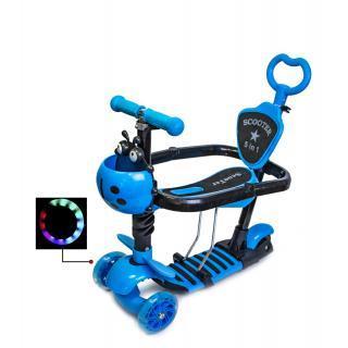 Самокат-беговел с бортиком ограничителем и родительской ручкой Scooter Scale Sports 5 в 1 Оригинал