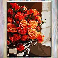 """Картина по номерам ТМ ArtStory, холст на подрамнике, Цветы """"Роскошный букет"""" 40*50 см, в коробке, фото 1"""