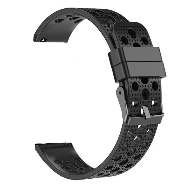 Спортивный ремешок с перфорацией Primo для часов Samsung Galaxy Watch 3 41mm (SM-R850) - Black