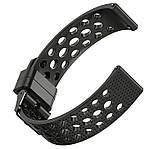 Спортивный ремешок с перфорацией Primo для часов Samsung Galaxy Watch 3 41mm (SM-R850) - Black, фото 3