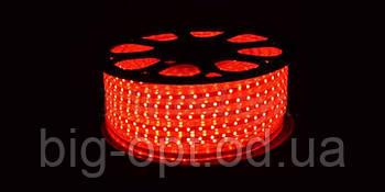 Светодиодная LED лента 5050 Red 100m 220V (красный диод)