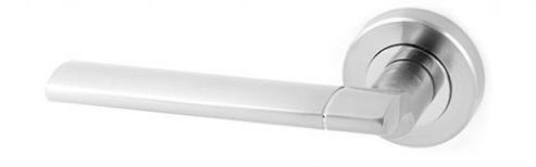 Ручки раздельные APECS H-0492-Z-CRM (Матовый хром) (Квадрат 110мм)