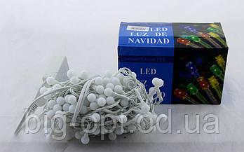 Светодиодная LED гирлянда Xmas 100 WW-6-1 маленький шарик (тёплый белый диод)
