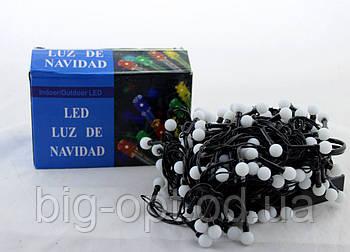 Светодиодная LED гирлянда Xmas 100 WW-6-2 маленький шарик (тёплый белый диод)