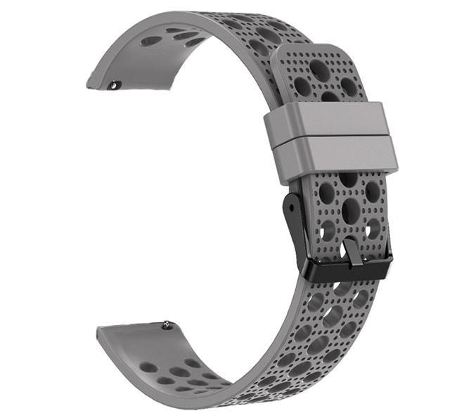 Спортивный ремешок с перфорацией Primo для часов Samsung Galaxy Watch 3 41mm (SM-R850) - Grey