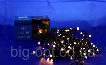 Светодиодная LED гирлянда Xmas 100 WW-4 (тёплый белый диод)