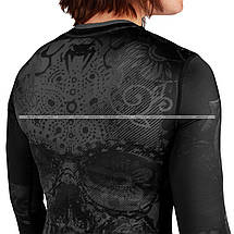 Женский рашгард Venum Santa Muerte 3.0 Long Sleeves Rashguard Black Black For Women, фото 3