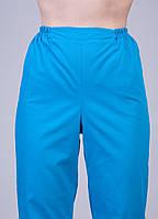 """Медицинские брюки синие """"Health Life"""" х/б 2601"""