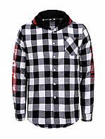 Рубашка в клетку с капюшоном для мальчика в двух цветах