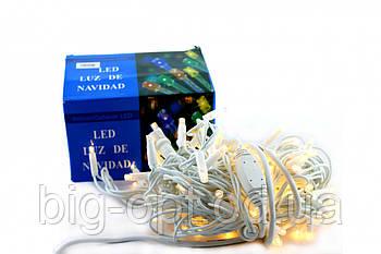 Светодиодная LED гирлянда Xmas 100 WW 3m Short curtain уличная (тёплый белый диод)