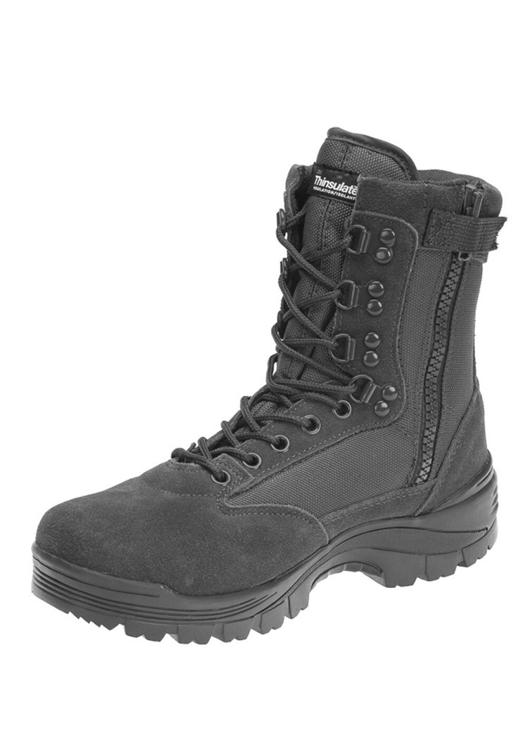Ботинки тактические MIL-TEC с застежкой-молнией YKK демисезон серые