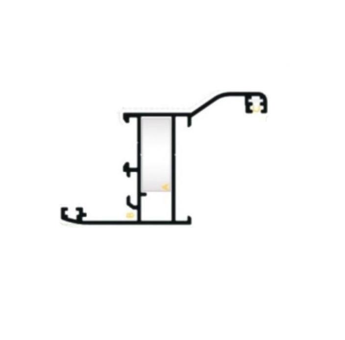 Профиль рамы  с обналичкой для изготовления алюминиевых ставней. м -