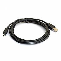 Кабель USB 2.0 (AM/Mini 5 pin) 1,5 м, чорний