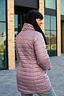Осенняя женская куртка со съемным рукавом 3/4 больших размеров - модель 2020- (кт-491), фото 4