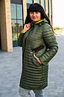 Осенняя женская куртка плащ больших размеров - модель 2020- (кт-149), фото 2