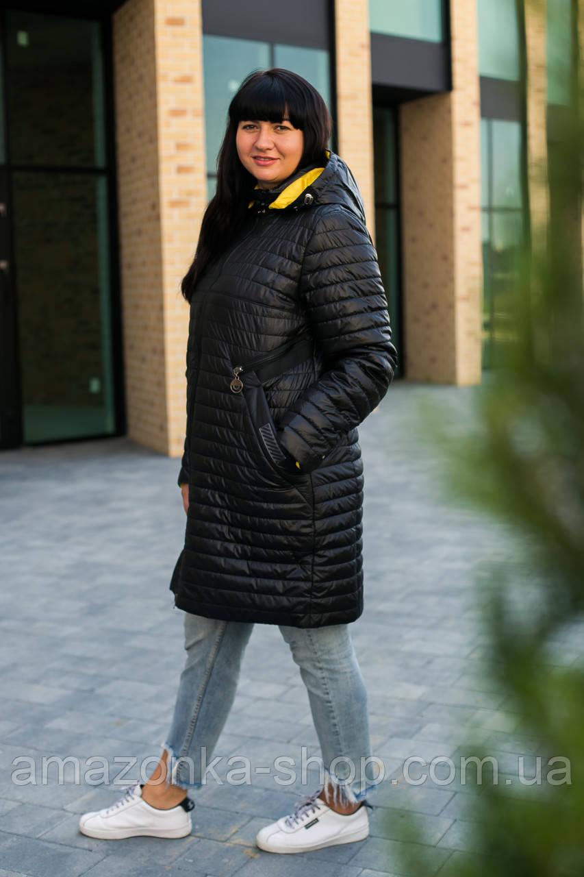 Осенняя женская куртка плащ больших размеров - модель 2020- (кт-149)