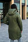Осенняя женская куртка плащ больших размеров - модель 2020- (кт-149), фото 4