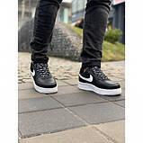 Кроссовки мужские Nike AirForce 119-1 черные весна-осень, фото 2