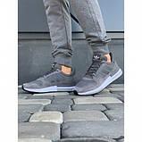 Кроссовки мужские Adidas А009-4 серый весна-осень, фото 3