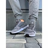 Кроссовки мужские Adidas А009-4 серый весна-осень, фото 4