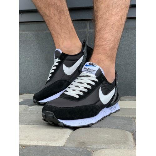 Кроссовки мужские Nike A9007-1 черный с белым весна-осень