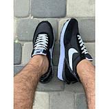Кроссовки мужские Nike A9007-1 черный с белым весна-осень, фото 2
