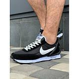 Кроссовки мужские Nike A9007-1 черный с белым весна-осень, фото 3