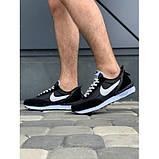 Кроссовки мужские Nike A9007-1 черный с белым весна-осень, фото 4