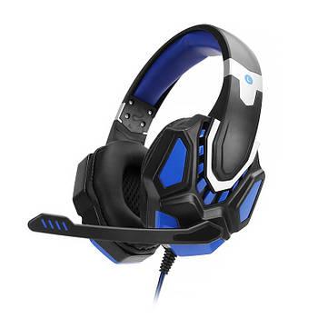 Проводная гарнитура SOYTO G10 Black + Blue игровые наушники для ноутбука