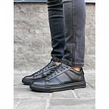 Мужские кеды Shamrock 10.110 черные кожаные весна-осень, фото 2