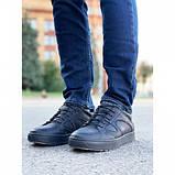 Мужские кеды Step Wey 5547 черные натуральная кожа весна-осень, фото 2