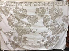 Простирадло махрова ТМ Речицький текстиль (Білорусія) Орхідея бавовна/льон 208х200 см