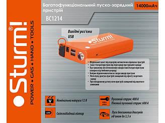 Багатофункціональний акумулятор і автономний пусковий пристрій Sturm BC1214