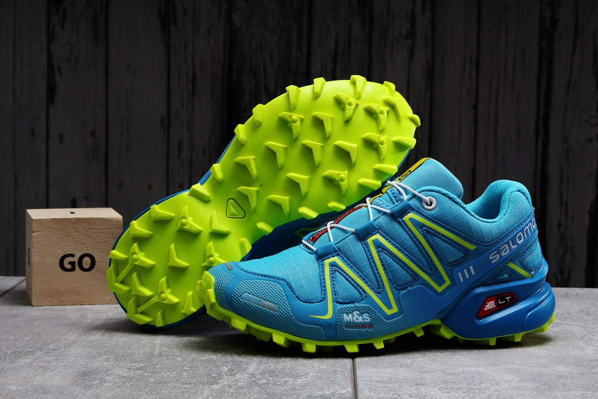 Кроссовки женские 17753 ► Salomon Speedcross 3, голубые . [Размеры в наличии: 37,40]