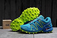 Кроссовки женские 17753 ► Salomon Speedcross 3, голубые . [Размеры в наличии: 37,40], фото 1