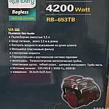 Пылесос Rainberg RB-653 циклонный,колбовый 4200Watt 3.5л, фото 4