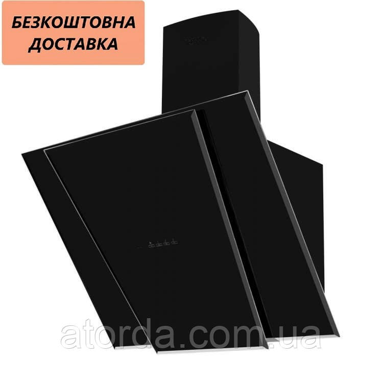 Витяжка Ventolux TORINO 60 BK (1000) TRC IT SD Похила Чорна Скло