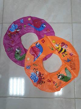 Круг надувной с рисунком морские животные 50 см 2 цвета 1 шт