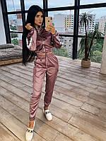 Женский костюм шелковый с лампасами: бомбер и брюки (в расцветках)