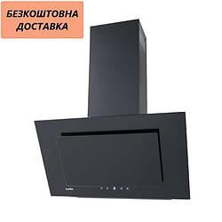 Вытяжка Ventolux IBIZA 60 BK (750) TC Наклонная Черная Стекло