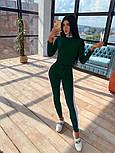 """Женский костюм: боди-гольф """"Святая"""" и леггинсы с лампасами (в расцветках), фото 2"""