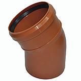 Колено ПВХ 110х30 для канализации, фото 5
