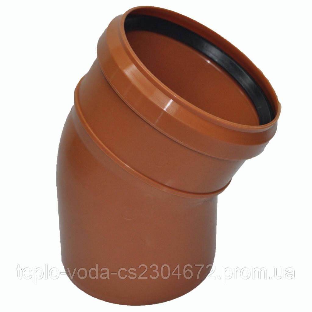 Колено ПВХ 110х30 для канализации