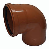 Колено ПВХ 110х90 для канализации, фото 4