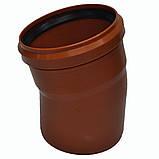 Колено ПВХ 160х15 для канализации, фото 3
