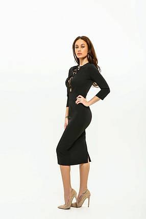 Сукня жіноча AniTi зі шнурівкою міді 105, чорний, фото 2