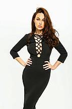 Сукня жіноча AniTi зі шнурівкою міді 105, чорний, фото 3